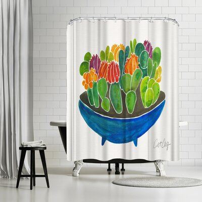 Cat Coquillette Succulents Shower Curtain