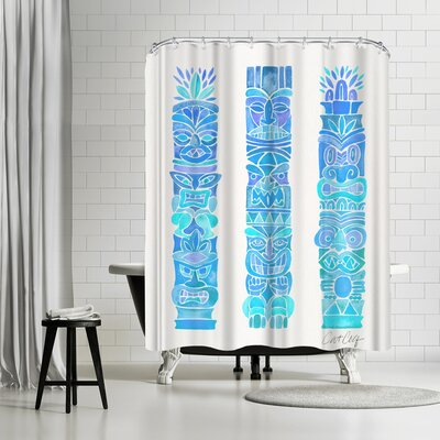 Tiki Totems Shower Curtain