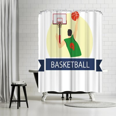 Wonderful Dream Basketball Sport Game Shower Curtain