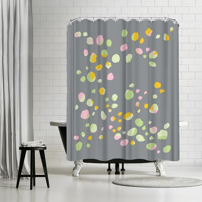 Ashlee Rae Geo Confetti Shower Curtain