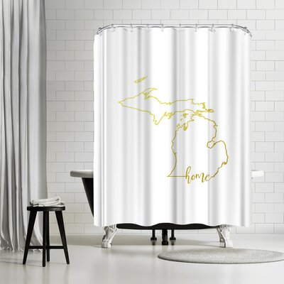 Paperfinch Michigan Home Shower Curtain