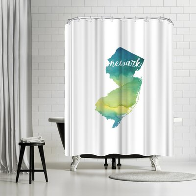 Paperfinch NJ Newark Shower Curtain
