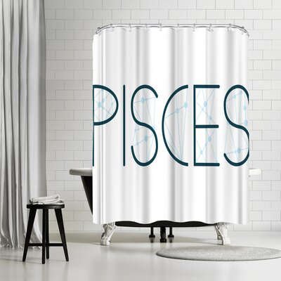 Paperfinch Pisces Alphabet Shower Curtain