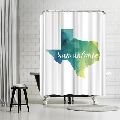 Paperfinch TX San Antonio Shower Curtain