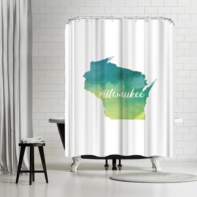 Paperfinch WI Milwaukee Shower Curtain