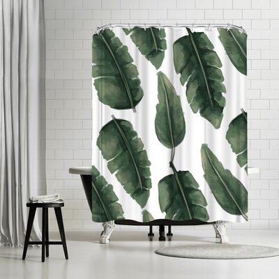 Jetty Printables Banana Leaf Painting Shower Curtain