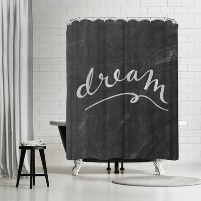 Jetty Printables Silver Chalkboard Dream Typography Shower Curtain