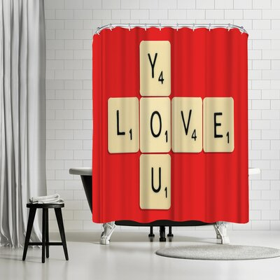 Florent Bodart Love You Bodart Shower Curtain