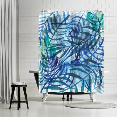 Paula Mills Nature in Blue No 3 Shower Curtain
