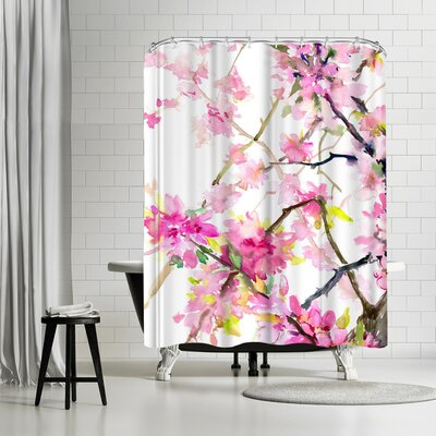 Suren Nersisyan Cherry Blossom Shower Curtain