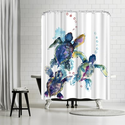 Suren Nersisyan Baby Sea Turtles 3 Shower Curtain