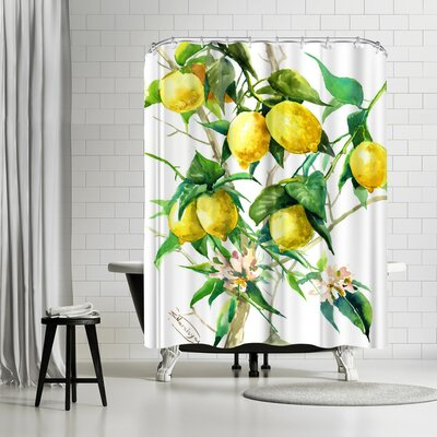 Suren Nersisyan Lemon Tree 3 Shower Curtain
