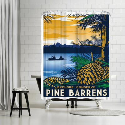 Matthew Schnepf Pinebarrens Shower Curtain