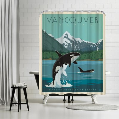 Anderson Design Group Canada Vancouver Island Orcas Shower Curtain