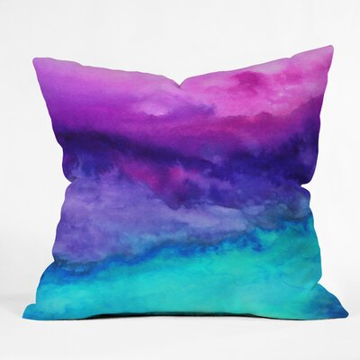 Indoor/Outdoor Euro Throw Pillow Size: 26 x 26, Color: Leaving California