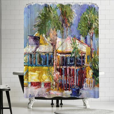 Richard Wallich Fish Shak Shower Curtain