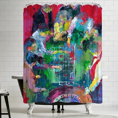 Richard Wallich High Stakes Shower Curtain