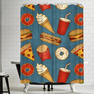 Tracie Andrews Fast Food Shower Curtain