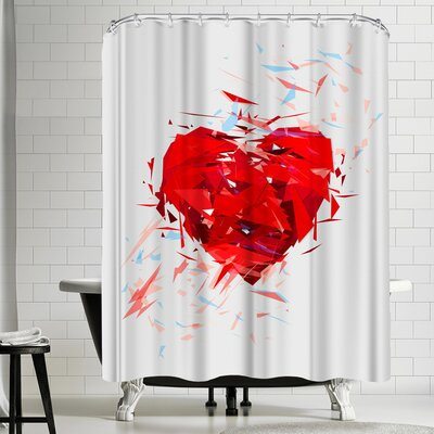 Tracie Andrews Fragile Heart Shower Curtain