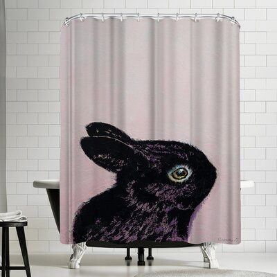 Michael Creese Black Bunny Shower Curtain