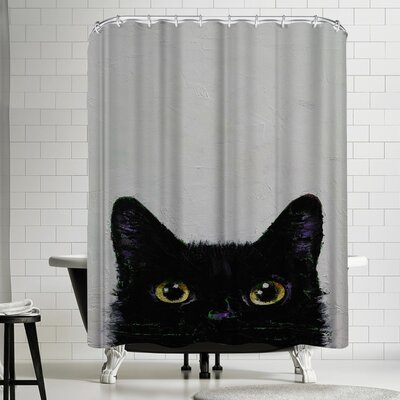 Michael Creese Black Cat Shower Curtain