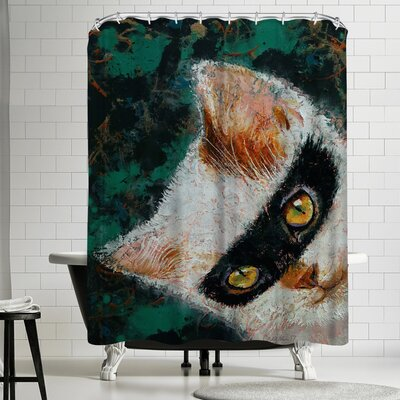 Michael Creese Cat Burglar Shower Curtain