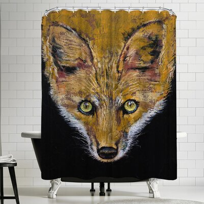 Michael Creese Clever Fox Shower Curtain