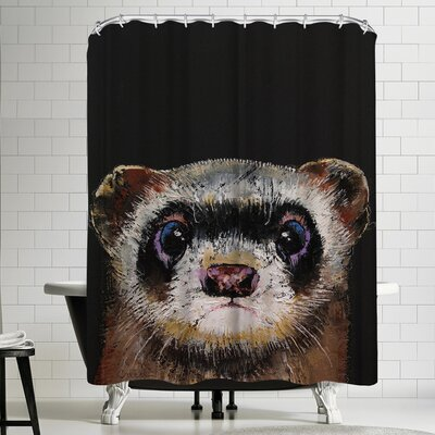 Michael Creese Ferret Shower Curtain