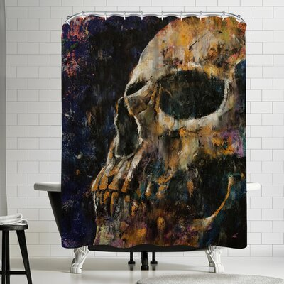 Michael Creese Gold Skull Shower Curtain