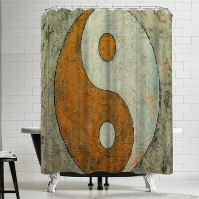 Michael Creese Gold Yin and Yang Shower Curtain