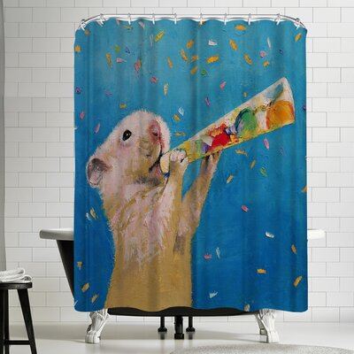 Michael Creese Happy Hamster New Year Shower Curtain