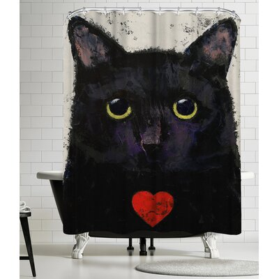 Michael Creese Love Cat Shower Curtain