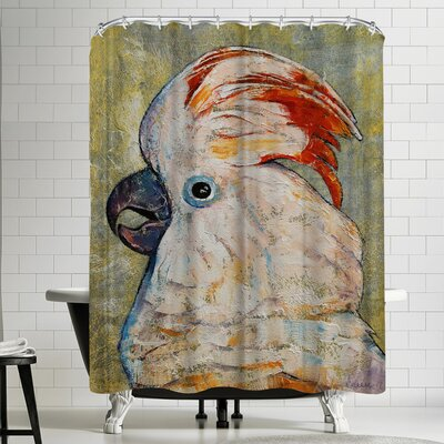 Michael Creese Moluccan Cockatoo Shower Curtain