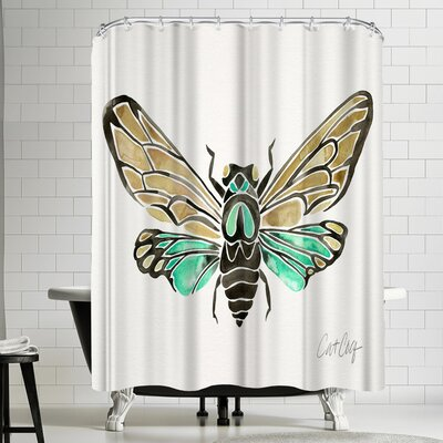 Cat Coquillette Summer Cicada Shower Curtain
