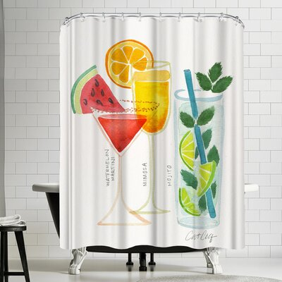 Cat Coquillette Summer Cocktails Shower Curtain