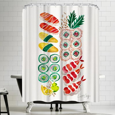 Cat Coquillette Sushi Shower Curtain