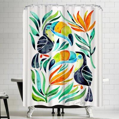 Cat Coquillette Toucans Shower Curtain