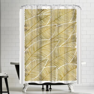Cat Coquillette Tropical Gold Shower Curtain