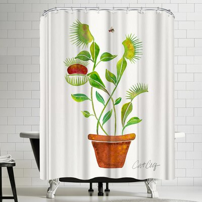 Cat Coquillette Venus Fly Trap Shower Curtain