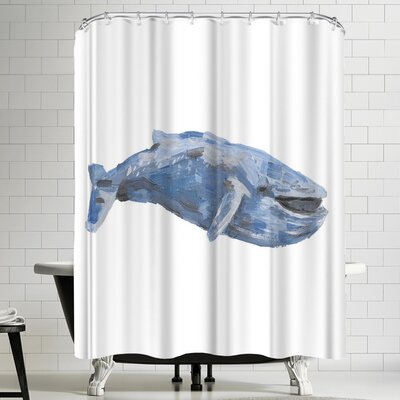 Jetty Printables Blue Whale 01 Shower Curtain