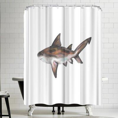 Jetty Printables Bull Shark Single Painting Shower Curtain