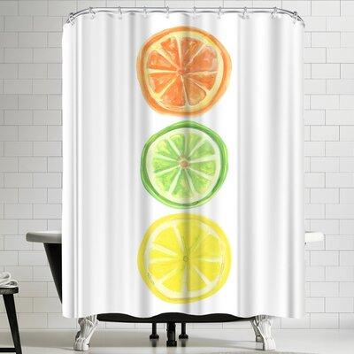 Jetty Printables Citrus Trio Shower Curtain