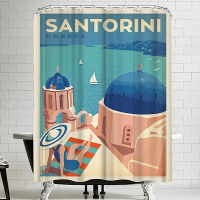 Anderson Design Group Greece Santorini Shower Curtain