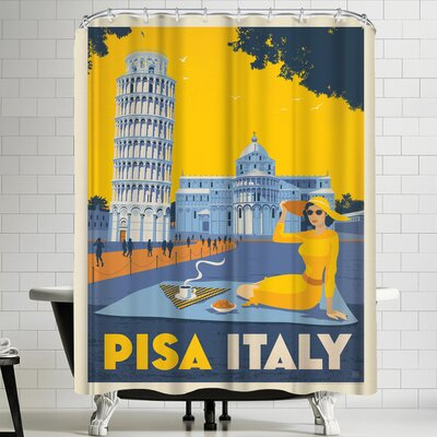 Anderson Design Group Italy Pisa Shower Curtain