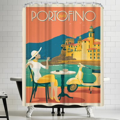Anderson Design Group Italy Portofino Shower Curtain