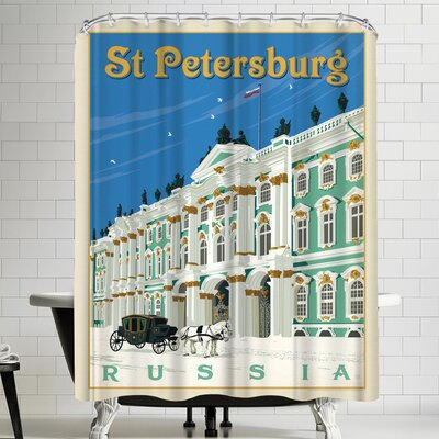 Anderson Design Group Russia St Petersburg Shower Curtain