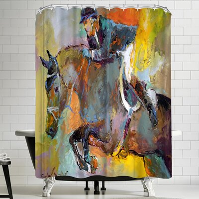 Richard Wallich Highjump Shower Curtain