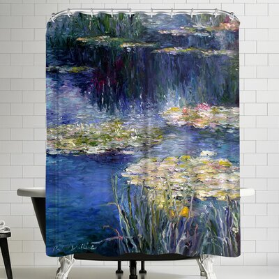 Richard Wallich Lilies Shower Curtain