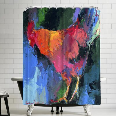 Richard Wallich Rooster Shower Curtain