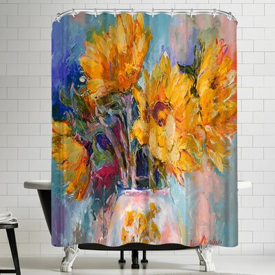 Richard Wallich Sunflowers Shower Curtain